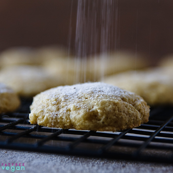 Okara or Tofu Coconut Cookies: Okara is the pulp left over from making soymilk. It's full of fiber, and it makes these delicious, low-fat cookies moist. #Vegan and #oilfree.
