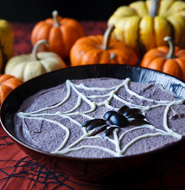 Spooky Black Bean Hummus