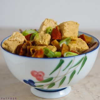 Tofu with Lobster Mushrooms in Ginger Broth