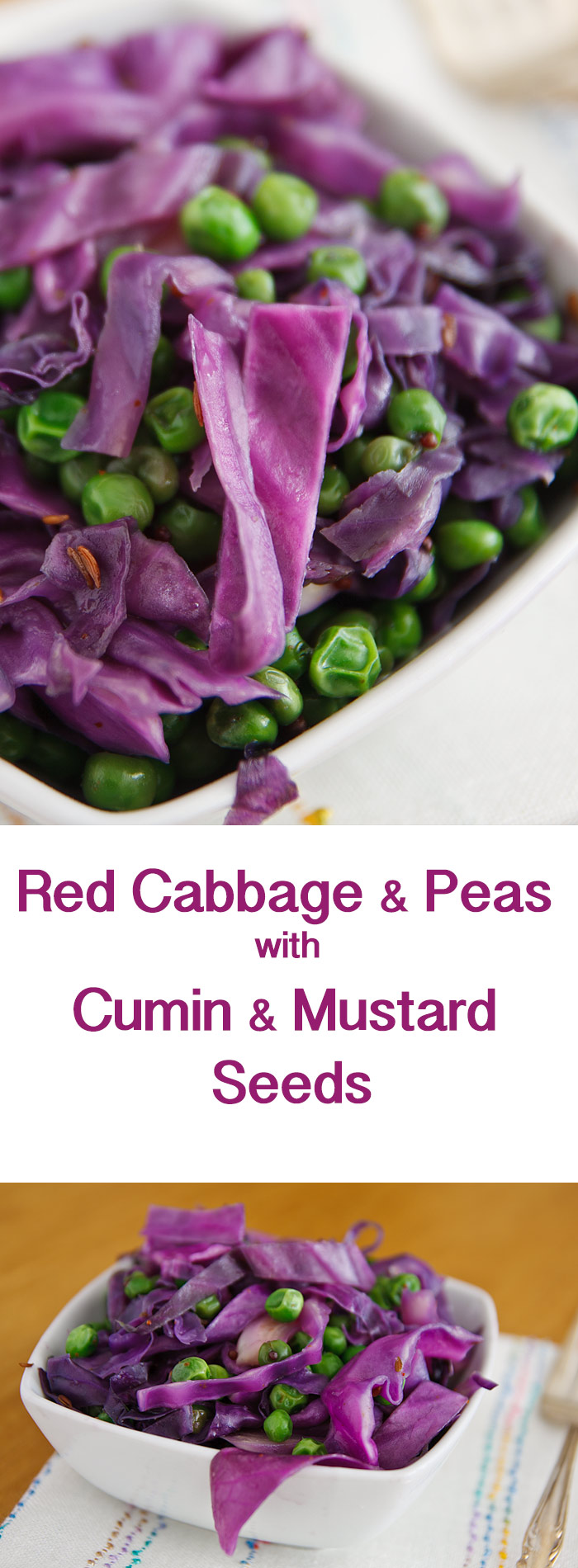Sautéd red cabbage makes a simple, delicious Indian side dish that is vegan, low-calorie, and low-fat.