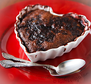 Chocolate Covered Cherry Pudding Cake