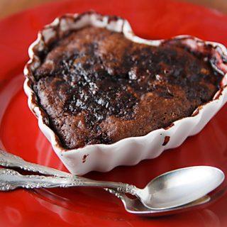 Chocolate Covered Cherry Pudding Cake