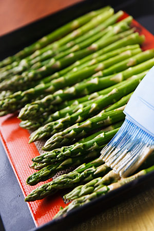 Wasabi-Roasted Asparagus Preparation