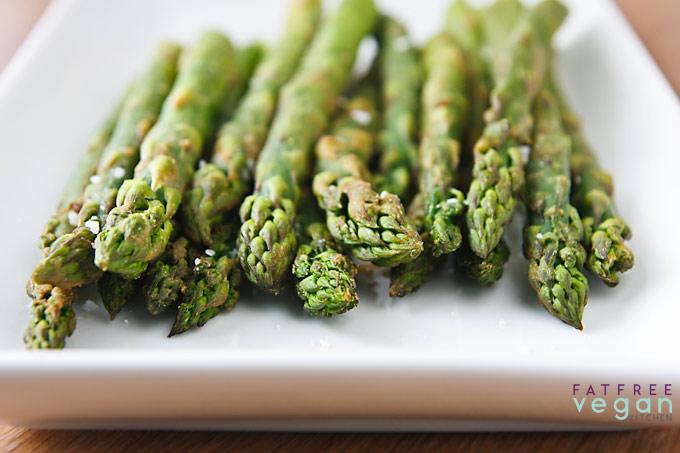 Wasabi Roasted Asparagus