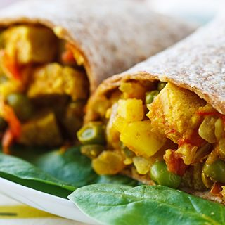 Low-Fat Vegan Samosa Wraps