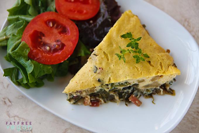 Swiss Chard Pie (Tofu Quiche with Greens)