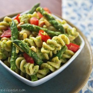 Asparagus Pesto Pasta Salad
