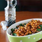 Balsamic-Glazed Chickpeas and Mustard Greens