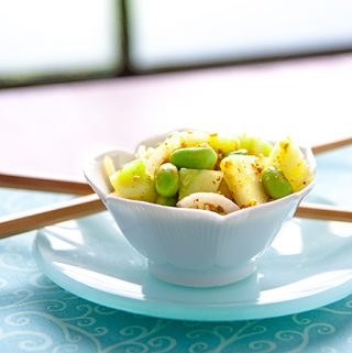 Korean-Style Cucumber and Edamame Salad