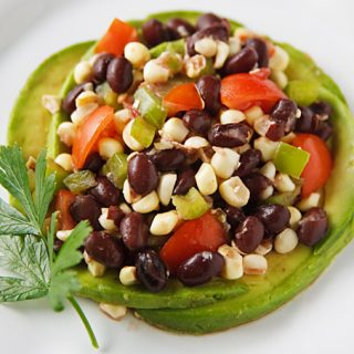 Raw Corn and Black Bean Salad with Avocado
