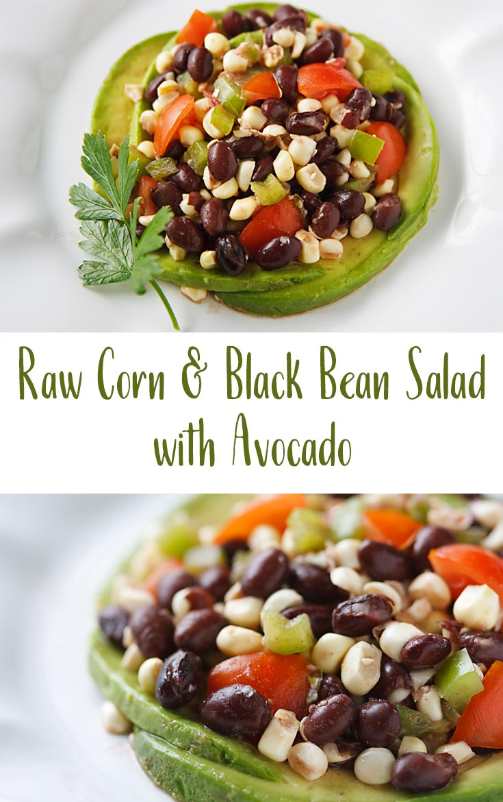 Use the freshest raw corn, tomatoes, black beans, and avocado to make this vegan, oil-free salad, full of the flavors of summer.