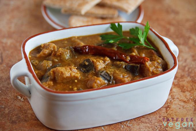 Iraqi-Inspired Seitan and Eggplant Stew
