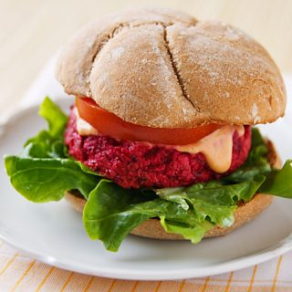 Roasted Beet-Tofu Burgers