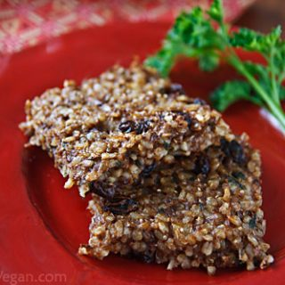 Spiced Rice and Lentil Squares