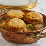 Celebration Pot Pie with Pumpkin Biscuit Crust