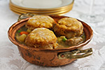 Celebration Pot Pie with Pumpkin Biscuit Crust