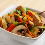 Stir-fried Tofu and Vegetables with Miso Sauce
