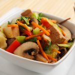 Stir Fried Tofu and Vegetables with Miso Sauce