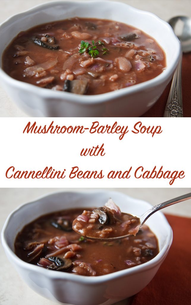 A smoky, rich broth makes this Mushroom Barley Soup delicious, and barley and beans make it hearty, and satisfying.  #vegan #1point #wfpb #weightwatchers #freestyle