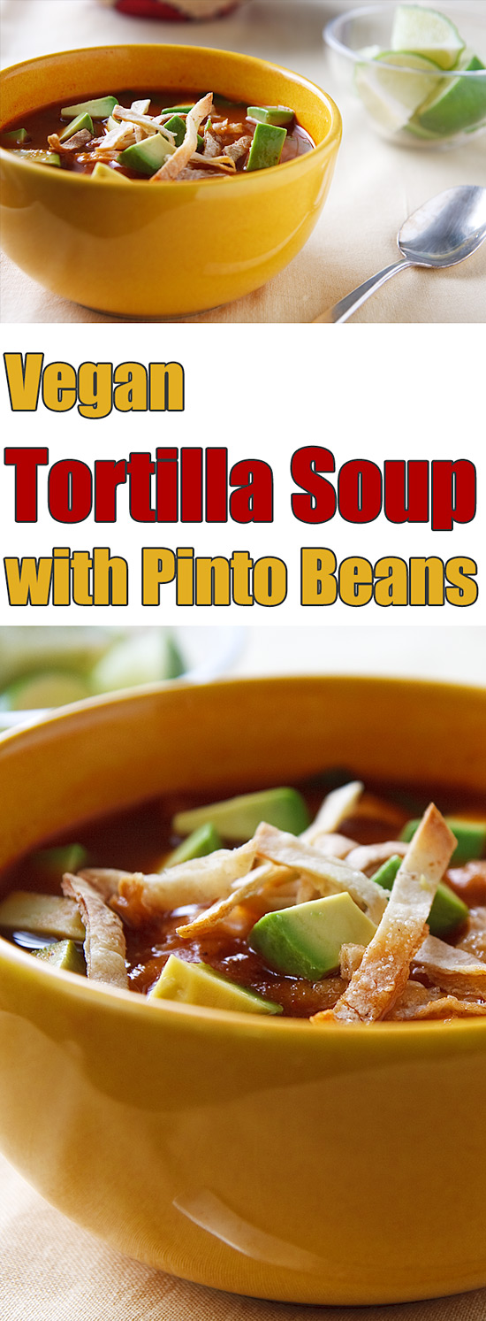 This fantastic tortilla soup is completely vegan and contains no added oil so you can indulge.