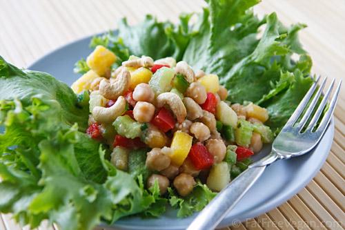 Thai Inspired Chickpea Salad