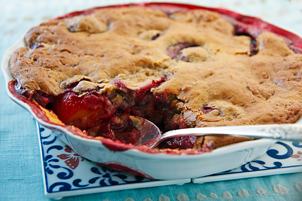 Low-Fat Plum Cobbler