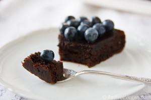 Chocolate-Blueberry Cake