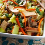 Book Choy and Baked Tofu in Ginger-Citrus Sauce