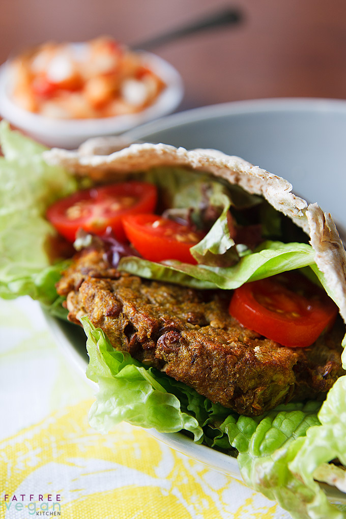 Curried Eggplant, Lentil, and Quinoa Burgers with Onion-Pepper Relish: Even if you don't like eggplant, you will love these burgers, which really don't taste like eggplant at all! Try them with Spicy Onion-Pepper Relish.
