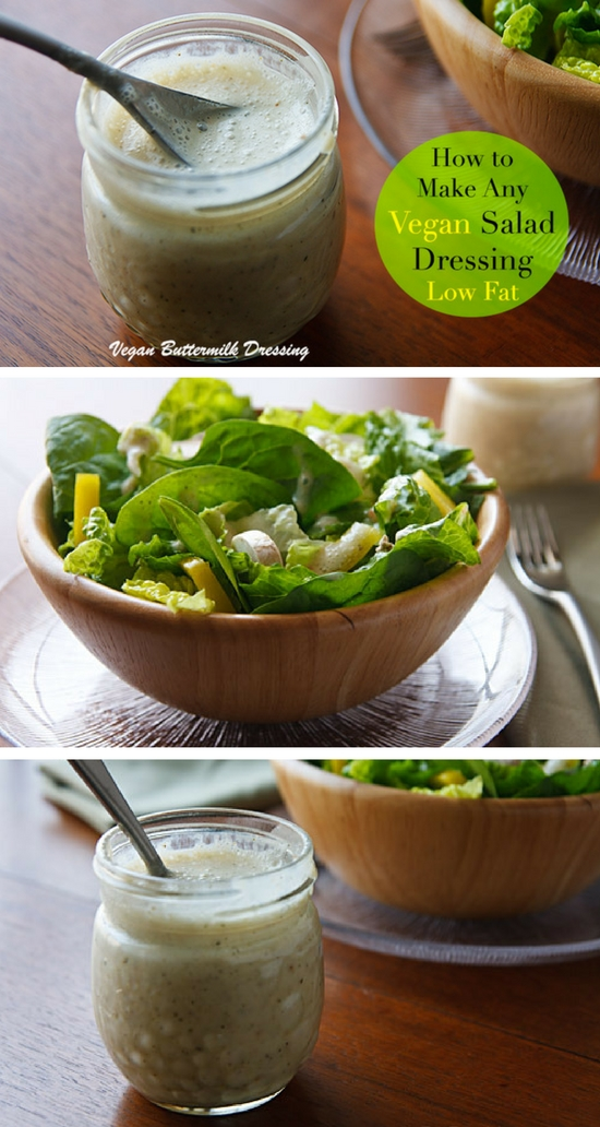 Here's an easy, creamy vegan salad dressing that you can throw together in just a few minutes plus tips for making any salad dressing oil-free.