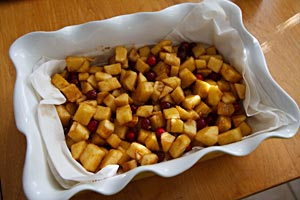 Apple-cranberry filling added