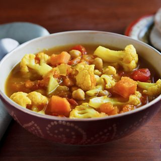 Curried Cauliflower and Sweet Potato Soup