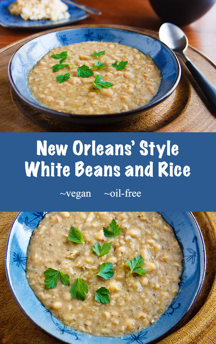 Creamy beans cooked in the spicy New Orleans' tradition, but without animal products or fat. #vegan #wfpb