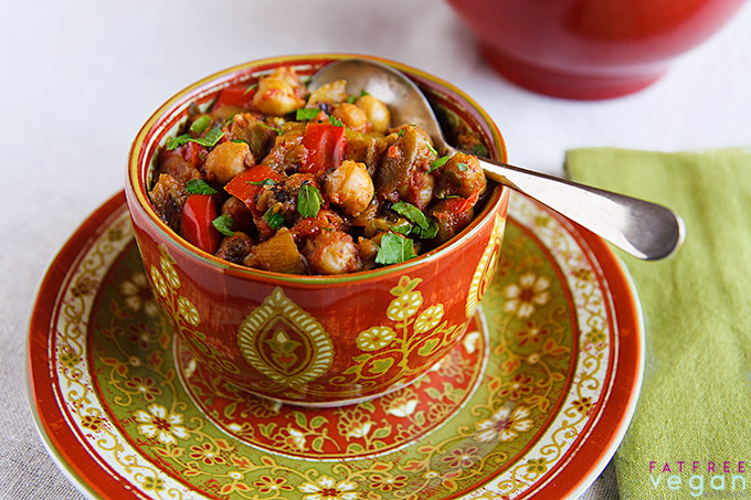 Eggplant and Chickpea Curry (Baingan Bharta with Chickpeas)
