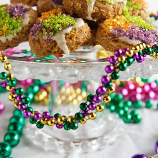 Gluten-Free King Cake Cookies (Cinnamon-Pecan Cookies)
