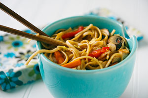 Low-Fat Lo Mein