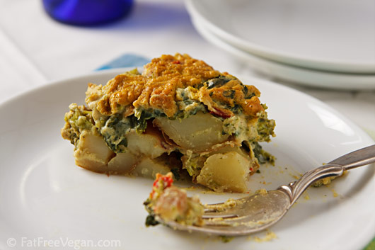 Potato and Broccoli Rabe Casserole