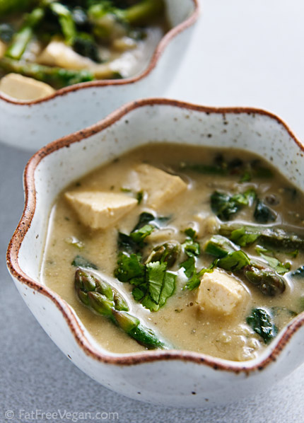 Thai Green Curry with Vegetables and Tofu