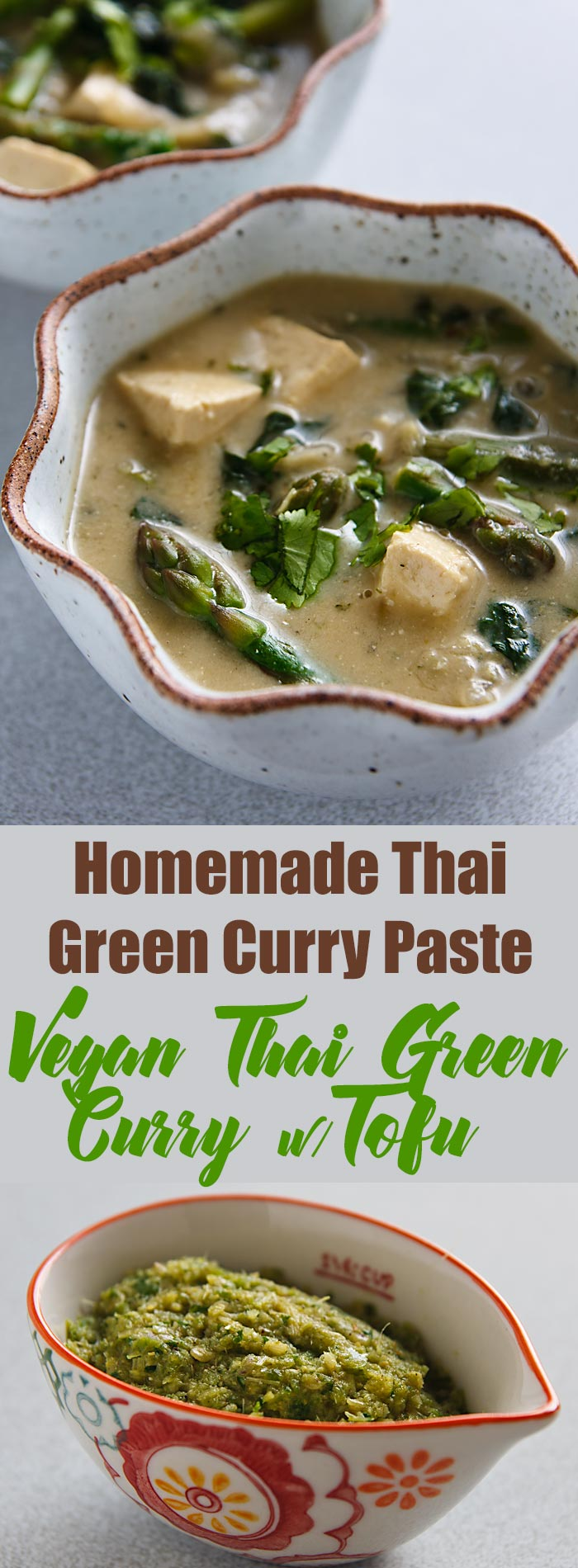 Make your own Thai Green Curry Paste using this recipe and then use it in a delicious vegan Thai green curry with tofu and vegetables.