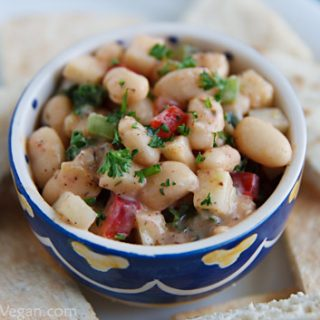 White Bean Salad with Zahtaar