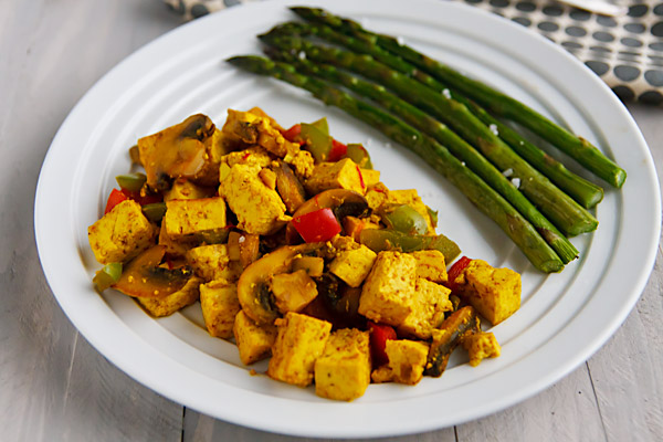 Ridiculously Easy Curry-Scrambled Tofu