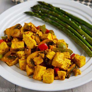 Ridiculously Easy Curry-Scrambled Tofu