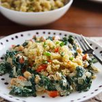 Cosmic Cashew Kale and Chickpeas with Confetti Quinoa