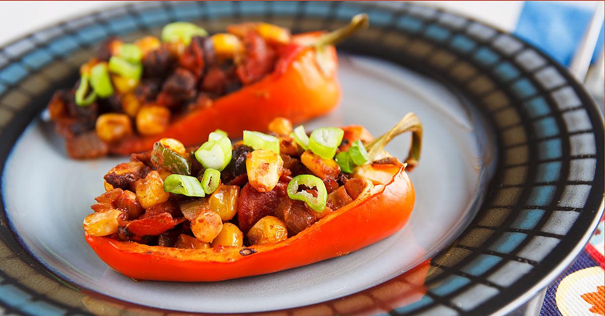 Chili-Stuffed Peppers