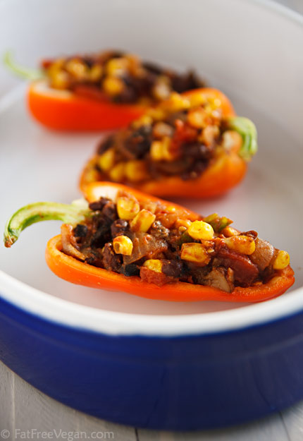 Chili-Stuffed Peppers