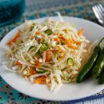 Ridiculously Easy Southwestern Coleslaw with Chile Peppers