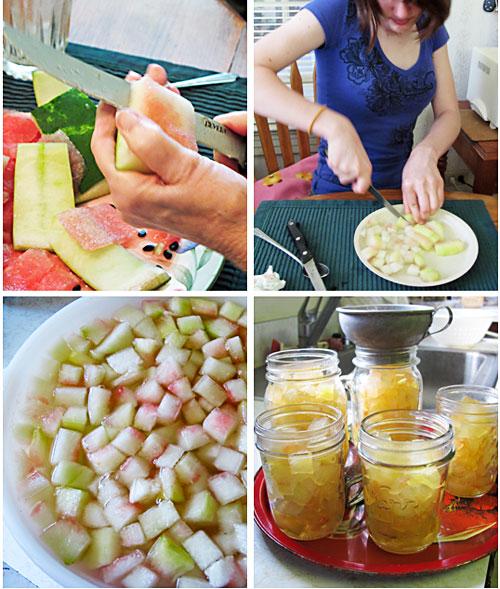 Watermelon Rind Preserves Prep