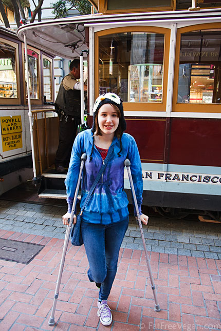 Hopping (literally) aboard a cable car in San Francisco