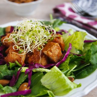 Thai Salad with Slow-Cooked Tofu in Pineapple Barbecue Sauce