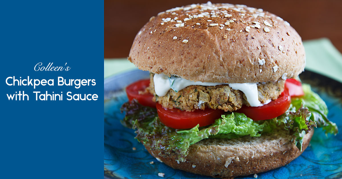 Colleen's Chickpea Burgers with Tahini Sauce | Recipe from ...